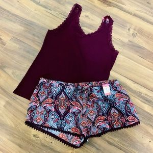 Other - NWT BOHO Chic Cami Pajama Set